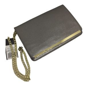 Silver Gold Chain Bag Convertible Clutch new glam